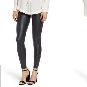 NWT SPANX croc pebbled faux leather leggings sz M